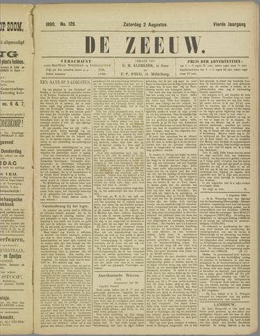 De Zeeuw. Christelijk-historisch nieuwsblad voor Zeeland 1890-08-02