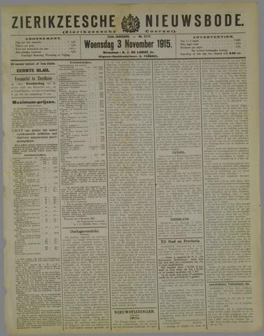 Zierikzeesche Nieuwsbode 1915-11-03