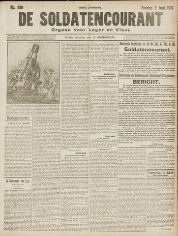 De Soldatencourant. Orgaan voor Leger en Vloot 1917-06-03