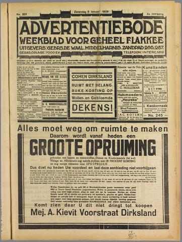 Advertentiebode. Gratis weekblad voor Goeree en Overflakkee 1929