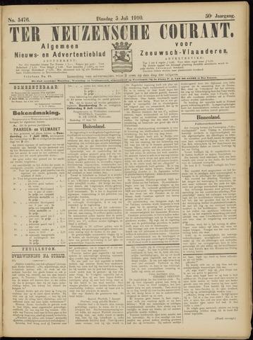 Ter Neuzensche Courant. Algemeen Nieuws- en Advertentieblad voor Zeeuwsch-Vlaanderen / Neuzensche Courant ... (idem) / (Algemeen) nieuws en advertentieblad voor Zeeuwsch-Vlaanderen 1910-07-05