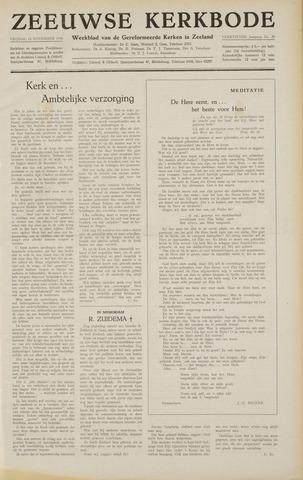 Zeeuwsche kerkbode, weekblad gewijd aan de belangen der gereformeerde kerken/ Zeeuwsch kerkblad 1958-11-14