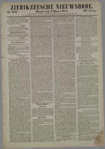 Zierikzeesche Nieuwsbode 1874-03-05