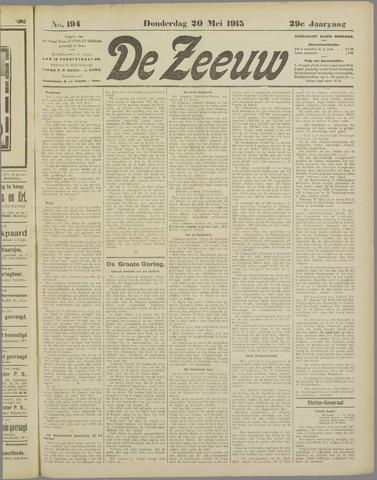 De Zeeuw. Christelijk-historisch nieuwsblad voor Zeeland 1915-05-20