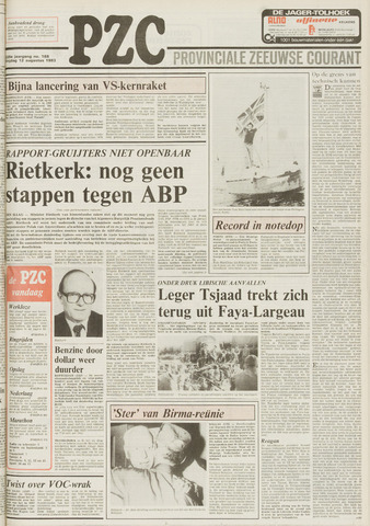 Provinciale Zeeuwse Courant 1983-08-12