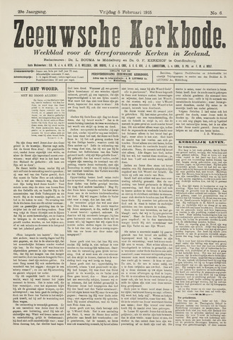 Zeeuwsche kerkbode, weekblad gewijd aan de belangen der gereformeerde kerken/ Zeeuwsch kerkblad 1915-02-05