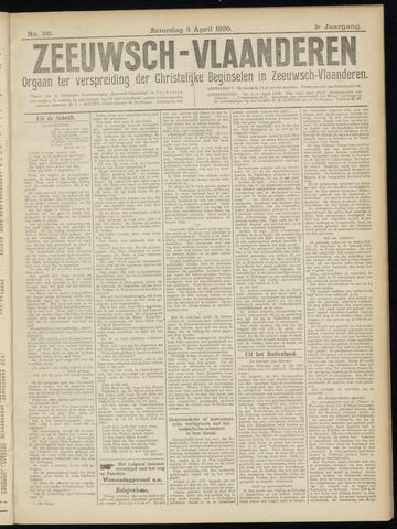 Luctor et Emergo. Antirevolutionair nieuws- en advertentieblad voor Zeeland / Zeeuwsch-Vlaanderen. Orgaan ter verspreiding van de christelijke beginselen in Zeeuwsch-Vlaanderen 1920-04-03