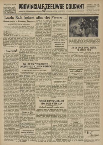 Provinciale Zeeuwse Courant 1949-09-17