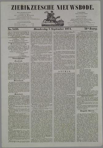 Zierikzeesche Nieuwsbode 1874-09-03