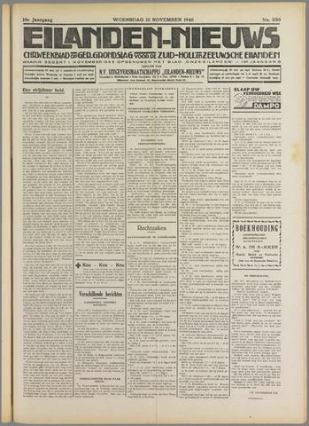 Eilanden-nieuws. Christelijk streekblad op gereformeerde grondslag 1940-11-13