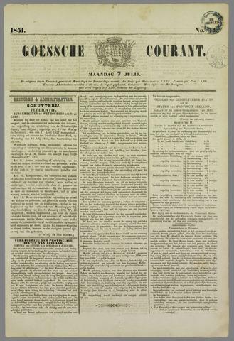 Goessche Courant 1851-07-07