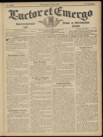 Luctor et Emergo. Antirevolutionair nieuws- en advertentieblad voor Zeeland / Zeeuwsch-Vlaanderen. Orgaan ter verspreiding van de christelijke beginselen in Zeeuwsch-Vlaanderen 1913-06-18