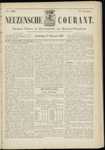Ter Neuzensche Courant. Algemeen Nieuws- en Advertentieblad voor Zeeuwsch-Vlaanderen / Neuzensche Courant ... (idem) / (Algemeen) nieuws en advertentieblad voor Zeeuwsch-Vlaanderen 1877-02-17
