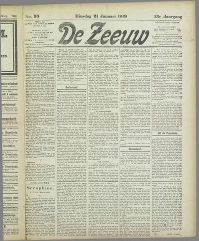 De Zeeuw. Christelijk-historisch nieuwsblad voor Zeeland 1919-01-21