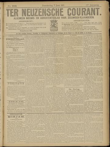 Ter Neuzensche Courant. Algemeen Nieuws- en Advertentieblad voor Zeeuwsch-Vlaanderen / Neuzensche Courant ... (idem) / (Algemeen) nieuws en advertentieblad voor Zeeuwsch-Vlaanderen 1917-06-07