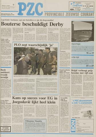 Provinciale Zeeuwse Courant 1991-08-03