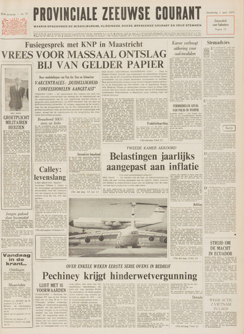 Provinciale Zeeuwse Courant 1971-04-01