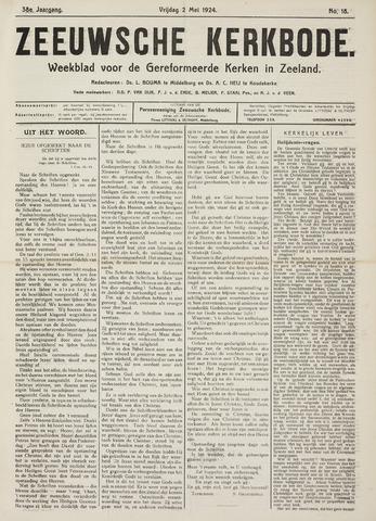 Zeeuwsche kerkbode, weekblad gewijd aan de belangen der gereformeerde kerken/ Zeeuwsch kerkblad 1924-05-02