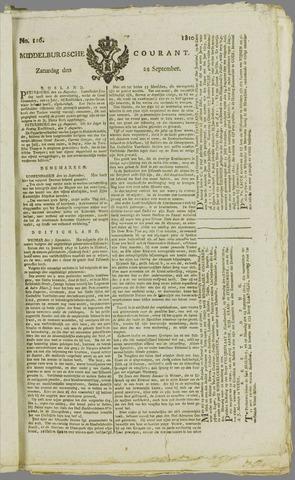Middelburgsche Courant 1810-09-22