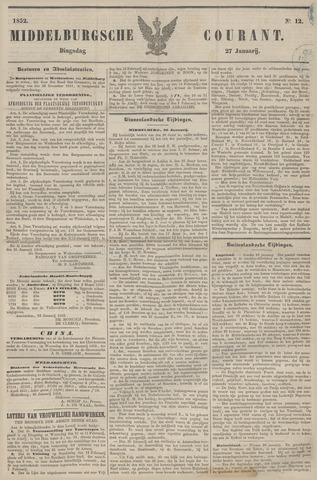 Middelburgsche Courant 1852-01-27