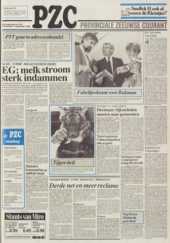 Provinciale Zeeuwse Courant 1986-09-11