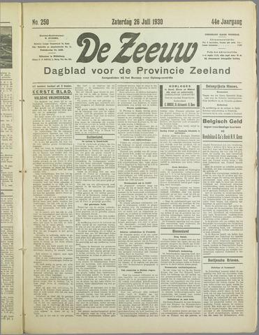 De Zeeuw. Christelijk-historisch nieuwsblad voor Zeeland 1930-07-26