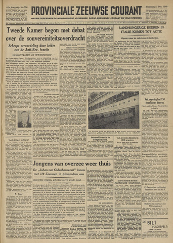 Provinciale Zeeuwse Courant 1949-12-07