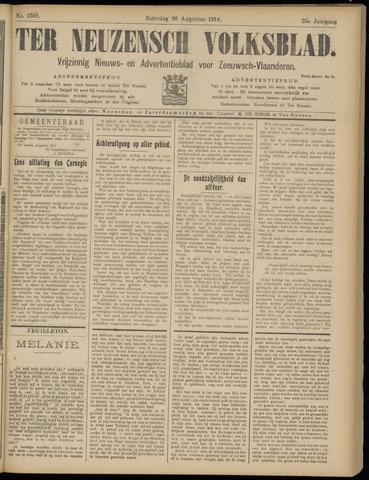 Ter Neuzensch Volksblad. Vrijzinnig nieuws- en advertentieblad voor Zeeuwsch- Vlaanderen / Zeeuwsch Nieuwsblad. Nieuws- en advertentieblad voor Zeeland 1914-08-29