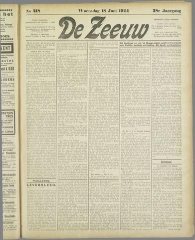 De Zeeuw. Christelijk-historisch nieuwsblad voor Zeeland 1924-06-18