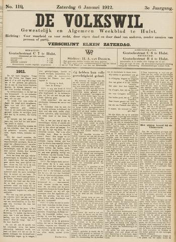 Volkswil/Natuurrecht. Gewestelijk en Algemeen Weekblad te Hulst 1912