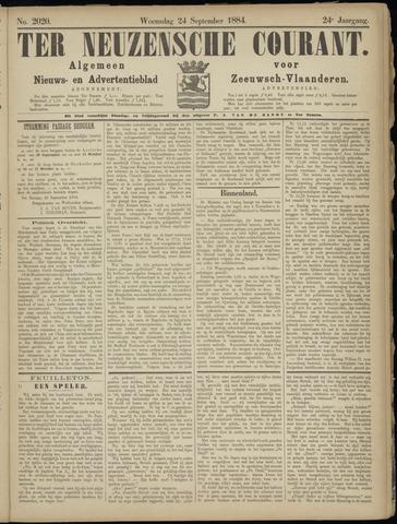 Ter Neuzensche Courant. Algemeen Nieuws- en Advertentieblad voor Zeeuwsch-Vlaanderen / Neuzensche Courant ... (idem) / (Algemeen) nieuws en advertentieblad voor Zeeuwsch-Vlaanderen 1884-09-24