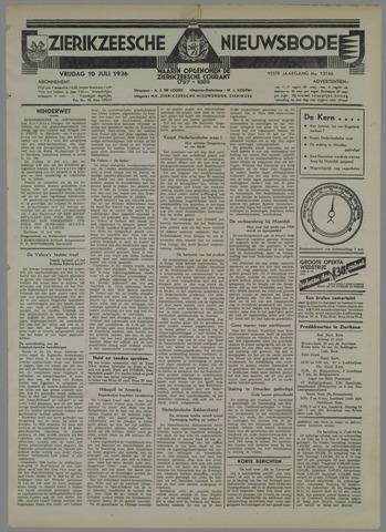 Zierikzeesche Nieuwsbode 1936-07-10