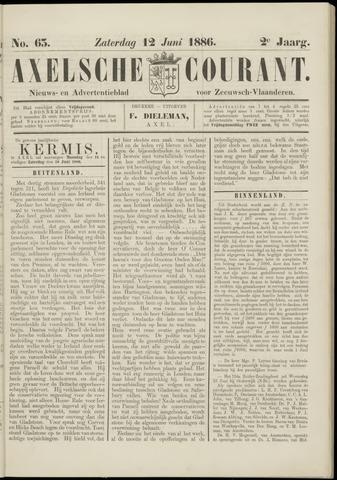 Axelsche Courant 1886-06-12
