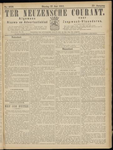 Ter Neuzensche Courant. Algemeen Nieuws- en Advertentieblad voor Zeeuwsch-Vlaanderen / Neuzensche Courant ... (idem) / (Algemeen) nieuws en advertentieblad voor Zeeuwsch-Vlaanderen 1911-06-27