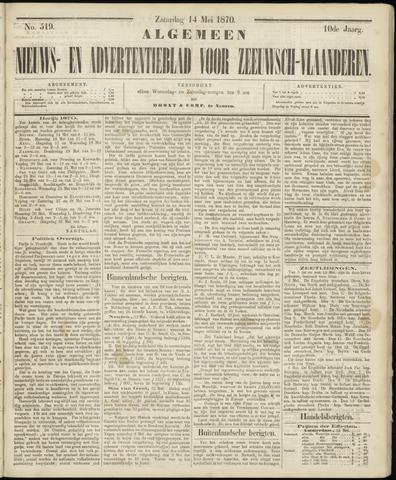 Ter Neuzensche Courant. Algemeen Nieuws- en Advertentieblad voor Zeeuwsch-Vlaanderen / Neuzensche Courant ... (idem) / (Algemeen) nieuws en advertentieblad voor Zeeuwsch-Vlaanderen 1870-05-14