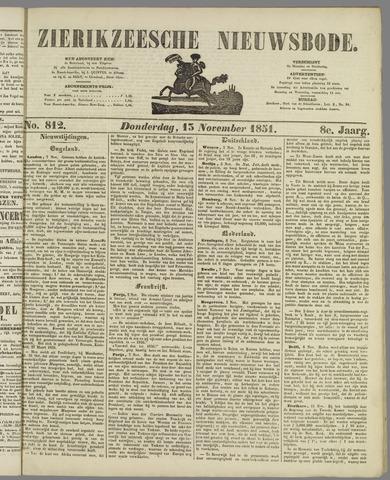 Zierikzeesche Nieuwsbode 1851-11-13