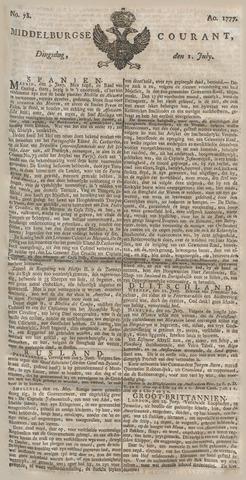 Middelburgsche Courant 1777-07-01
