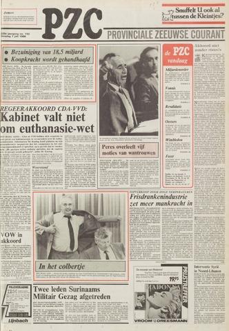 Provinciale Zeeuwse Courant 1986-07-01