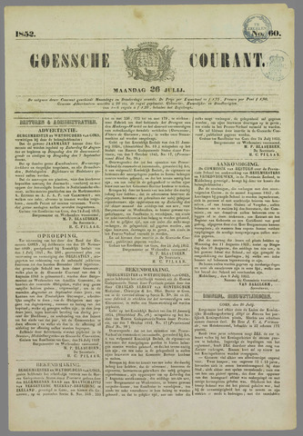 Goessche Courant 1852-07-26