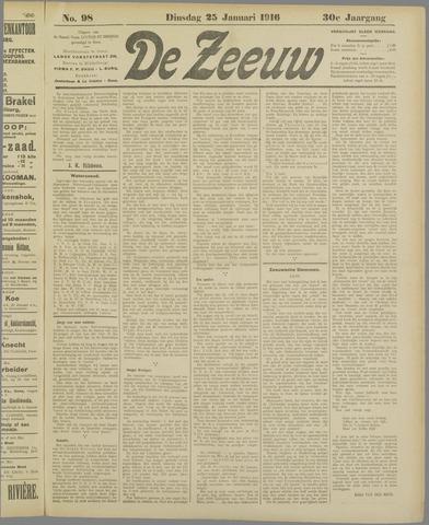 De Zeeuw. Christelijk-historisch nieuwsblad voor Zeeland 1916-01-25