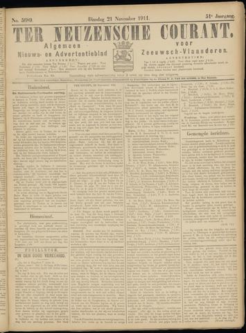 Ter Neuzensche Courant. Algemeen Nieuws- en Advertentieblad voor Zeeuwsch-Vlaanderen / Neuzensche Courant ... (idem) / (Algemeen) nieuws en advertentieblad voor Zeeuwsch-Vlaanderen 1911-11-21