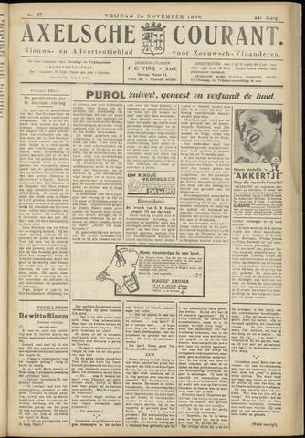 Axelsche Courant 1938-11-25