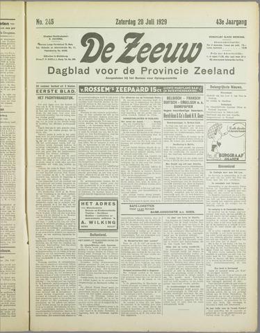 De Zeeuw. Christelijk-historisch nieuwsblad voor Zeeland 1929-07-20