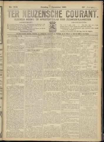 Ter Neuzensche Courant. Algemeen Nieuws- en Advertentieblad voor Zeeuwsch-Vlaanderen / Neuzensche Courant ... (idem) / (Algemeen) nieuws en advertentieblad voor Zeeuwsch-Vlaanderen 1920-12-07