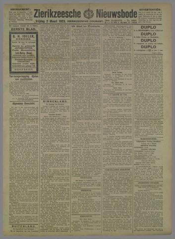Zierikzeesche Nieuwsbode 1923-03-02