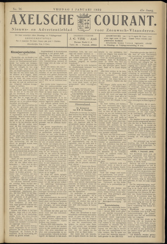 Axelsche Courant 1932-01-01