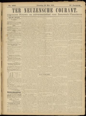 Ter Neuzensche Courant. Algemeen Nieuws- en Advertentieblad voor Zeeuwsch-Vlaanderen / Neuzensche Courant ... (idem) / (Algemeen) nieuws en advertentieblad voor Zeeuwsch-Vlaanderen 1919-05-20