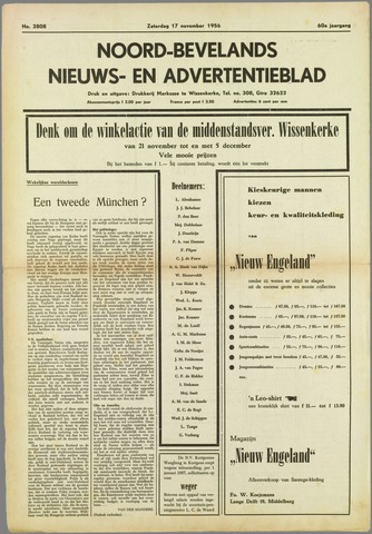 Noord-Bevelands Nieuws- en advertentieblad 1956-11-17