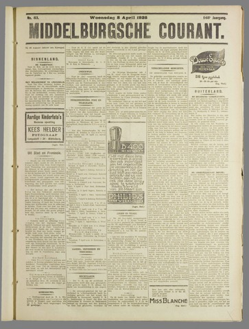 Middelburgsche Courant 1925-04-08