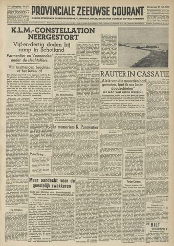 Provinciale Zeeuwse Courant 1948-10-21